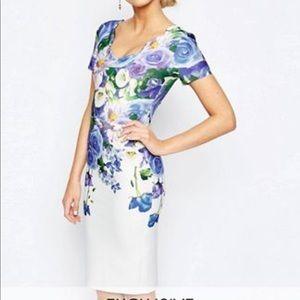 Hope&Ivy Floral pencil dress